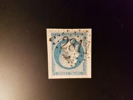 N°22, 20 Cts Bleu, GC 2811, Percy, Manche. - Marcophilie (Timbres Détachés)