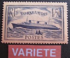 DF50500/13 - 1935 - PAQUEBOT NORMANDIE - N°299a NEUF* - VARIETE ➤➤➤ PAPIER CREME - Variétés Et Curiosités