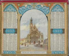 Calendrier De 1937 En Chromolithographie - Calendriers