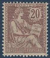 FRANCE Mouchon 1900 N°126** 20c Brun Fraicheur Postale TTB Signé Calves - 1900-02 Mouchon
