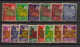 Vietnam (Empire) - 1952-56 - Taxe TT N°Yv. 1 à 14 - Complet - 14v - Neuf ** / MNH / Postfrisch - Vietnam