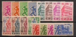 South Vietnam - Complete Year 1962 - N°Yv. 188 à 203 - 16v / Année Complète  - Neuf Luxe ** / MNH / Postfrisch - Viêt-Nam