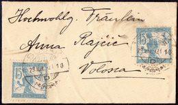 SLOVENIA - SHS To ITALIA - SUŠAK To VOLOSCA - Business Card - 1921 - Slovénie