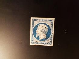 N°14, 20 Cts Bleu, PC 1601, Juvigny Le Tertre, Manche. - Marcophilie (Timbres Détachés)