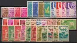 South Vietnam - Complete Year 1961 - N°Yv. 153 à 187 - 35v / Année Complète  - Neuf Luxe ** / MNH / Postfrisch - Viêt-Nam