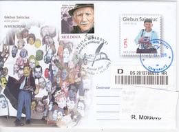 2019 , Moldova  Moldavie  , Famous Persons , Glebus Sainciuc , Painter , Artist . - Moldavie