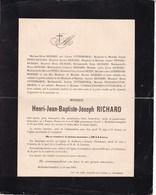 FAMARS BREISSEM-CUMPTICH TIRLEMONT Henri RICHARD 1838-1902 Familles PETEN VRANCKX - Décès