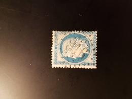 N°60 C,  25 Cts Bleu , GC 816, Cerisy La Salle, Manche. - Marcophilie (Timbres Détachés)
