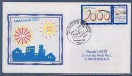 = Union Des Philatélistes Et Des Télécartistes De La Poste Et De France Télécom 1.1.2000 Meilleurs Voeux N°3291 - Marcophilie (Lettres)