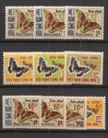 South Vietnam - 1968-74 - Taxe TT N°Yv. 15 à 24 - Complet - Papillons - Neuf Luxe ** / MNH / Postfrisch - Vietnam