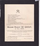 CRAS-AVERNAS LOUVAIN Maggy NIHOUL épouse Robert DE GHOUY 1911-1933 Familles GREGOIRE SNYERS - Overlijden
