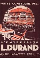 Intéressant Dépliant Publicitaire  Durand Constructeur De Maisons Rue Lafayette Paris (75) Plans De Maisons - Architecture