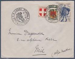 = Musée Postal Rue Saint Romain Paris 26.4.50 Timbres 836 837 Et 863 Facteur Rural Journée Du Timbre 1950 - Marcophilie (Lettres)