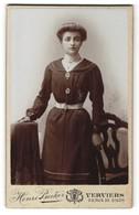 Fotografie Henri Becker, Verviers, Portrait Junge Dame Mit Hochsteckfrisur - Personnes Anonymes