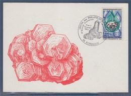 = Union Des Philatélistes Des PTT 6ème Bourse Exposition Minéraux Fossiles 10-11.10.83 Bordeaux N°1612 Carte Postale - Marcophilie (Lettres)