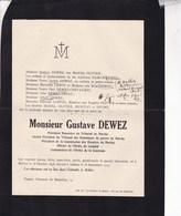 MELLIER JAMBE Gustave DEWEZ Président Honoraire Du Tribunal De Marche 1848-1925 Familles OLIVIER DEOME - Décès