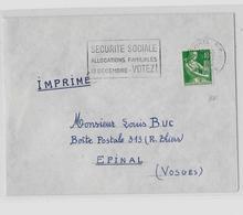 88 – VOSGES « EPINAL »  Imprimé Ordinaire 1er Ech. - Marcophilie (Lettres)