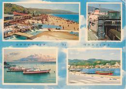 MESSINA -VEDUTINE: LIDO MORTELLE + NAVI + BARCHE - Messina