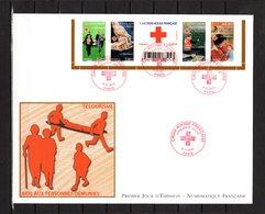 """"""" 2011: CROIX-ROUGE : LE BENEVOLAT. """" Sur Enveloppe 1er Jour Grand Format N°YT 4621 à 4625 Parfait état - Croix-Rouge"""