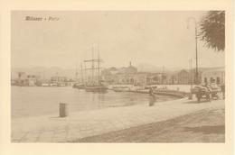 MILAZZO - PORTO, ANIMATO CON NAVI - RIPRODUZIONE CARTOLINA 1912 - Other Cities