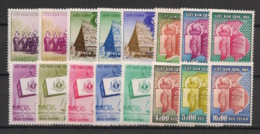 South Vietnam - Complete Year 1957 - N°Yv. 65 à 80 - 16v / Année Complète  - Neuf Luxe ** / MNH / Postfrisch - Viêt-Nam