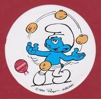 Sticker Strip Stripfiguur Smurf Schtroumpfs Schtroumpf Los Pitufos I Puffi Peyo 1984 Bande Dessinée Autocollant Spania - Autocollants