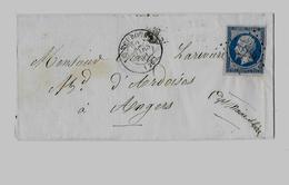 EURE ( 26 ) – LE NEUBOURG  LSI - 7,5g. - Tarif à 20c. (1.7.1854/31.12.1861)  M. N°14 Type II - 20c. Empire N.D. - Marcophilie (Lettres)