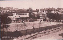 Lausanne Montriond, Parc Des Sports, Terrains De Tennis (3898) Bordure Endommagée - VD Vaud