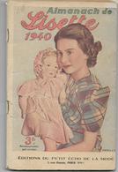 Almanach De LISETTE 1940 - Books, Magazines, Comics