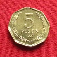 Chile 5 Pesos 1997 KM# 232  Chili - Chile
