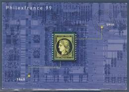 = Inauguration Philexfrance99 2.7.99 Paris Carte Postale Entier Avec Type Timbre N°3212 Verso Illustration Cérès 1849 - Commemorative Postmarks