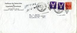 United Nations Conference On International Organization, UNCIO, 1945, Belgian Delegation Service Cover, Gaines UNCIO/E.4 - ONU
