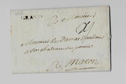 Royaume De France « PROVENCE » (VAR - GRASSE)  * Tarif Du 1.1.1704 Au 31.7.1759 * - Liaisons Transversales Entre Villes - Marcophilie (Lettres)