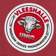 Sticker Autocollant Vleeshalle Unic Waregem Deinze Ingelmunster Cow Koe Vache Aufkleber Adesivo - Autocollants