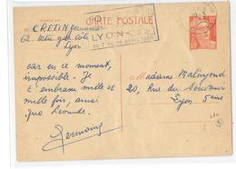 69 – RHÔNE « LYON »                         CPI Ordinaire  – Tarif à 12F. - Cartes Postales Types Et TSC (avant 1995)