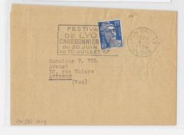 69 – RHÔNE  LYON-GROLEE - SECAP Fl.à G. 6.7.1954/886 T.I                                   LSI – Tarif Du 6.1.1949 - Marcophilie (Lettres)