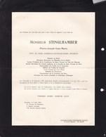 UCCLE Pierre-Joseph STINGLHAMBER Veuf LENAERTS 1870-1953 Directeur Ministère De La Justice En 2 Volets Complets - Overlijden