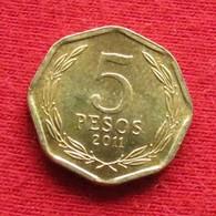 Chile 5 Pesos 2011 KM# 232  Chili - Chile