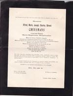 UCCLE ANVERS Alfred CRUYSMANS Veuf STINGGLHAMBER 1897-1956 Enterré Uccle Fabrique D'église St Job 2 Volets Complets - Décès