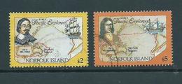 Norfolk Island 1994 Pacific Explorer $2 Tasman & $5 Dampier High Values FU - Norfolk Island