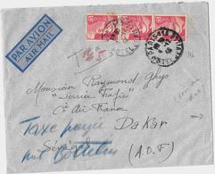 PARIS – Bureau N°113  « Hôtel De Ville »            LSI – Tarif PA « AOF-SENEGAL » à 23F. - Marcophilie (Lettres)
