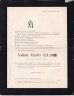 INSEGOTTE Louise DELBOUILLE épouse CHAUDOIR 59 Ans 1905 Famille CUMONT D'ALOST AALST - Overlijden