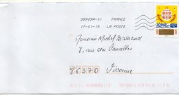 """2018- Tp Adhésif """" Voeux """" --JOUEZ ---timbre à Gratter   --seul Sur Lettre-------- - Marcophilie (Lettres)"""