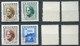 ESPAGNE SPANIEN SPAIN ESPAÑA 1948 PROTUBERCULOSES SET 4V ED 1040-43 YV 781-83+A239 MI ZW45-47+968 SG 1109-12 SC RA25-6+R - 1931-Aujourd'hui: II. République - ....Juan Carlos I