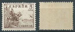 ESPAGNE SPANIEN SPAIN ESPAÑA 1949 EL CID 5 CTS BROWN MNH ED 1044 YV 785 MI 766 IV SG 902 SC 664A - 1931-Aujourd'hui: II. République - ....Juan Carlos I