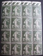DF50500/19 - 1932 - TYPE SEMEUSE -  BLOC DE 16 TIMBRES BdF NEUFS** N°278 - France