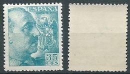 ESPAGNE SPANIEN SPAIN ESPAÑA 1949 GENERAL FRANCO 35 CTS TURQUOISE ED 1050 YV 817 MI  SG 997 SC 696 - 1931-Aujourd'hui: II. République - ....Juan Carlos I