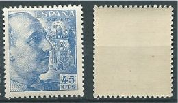 ESPAGNE SPANIEN SPAIN ESPAÑA 1949 GENERAL FRANCO 45 CTS BLUE ED 1052 YV 818 MI 848C SG 1119 SC 698A - 1931-Aujourd'hui: II. République - ....Juan Carlos I