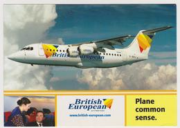1204/ BRITISH EUROPEAN BAe 146-300 Series. Company's Edition.- Non écrite. Unused.. Sent In 2001. Circulée En 2001. - 1946-....: Moderne