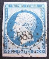 DF50500/23 - LOUIS-NAPOLEON N°10 - PC 583 : CALAIS (Pas De Calais) Légère Oxydation Du Papier - Cote : 45,00 € - 1852 Louis-Napoléon